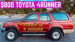 2 HOUR FLIP: FIXING An $800 Toyota 4Runner And SELLING It As Fast As POSSIBLE