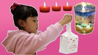 라임의 바당 캔들 만들기 제주도 바다 젤 촛불 켜기 장난감 놀이 LimeTube & Toy 라임튜브