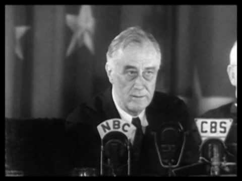 FDR Discusses his Dog Fala