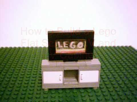 how to build a lego flat screen t v youtube. Black Bedroom Furniture Sets. Home Design Ideas