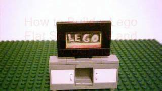 How To Build A Lego Flat Screen T.v