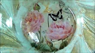 Studio Decoupage Tutorial Under Glass Stamping and Crackling