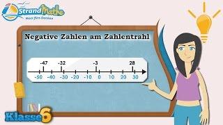 Negative Zahlen am Zahlenstrahl || Klasse 6 ★ Wissen