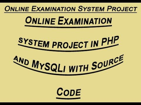 Online examination system project in PHP and Mysqli with Source Code