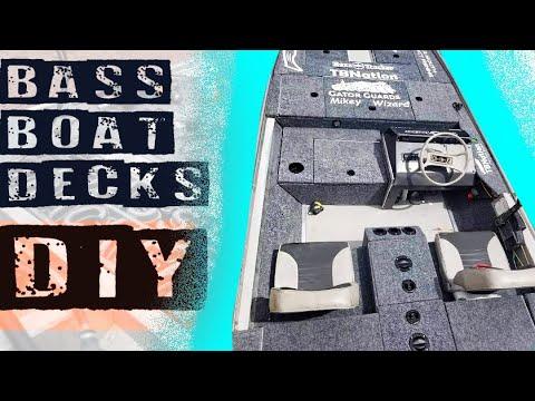 Bass Boat Deck Restoration for Vintage BASS TRACKER TX.