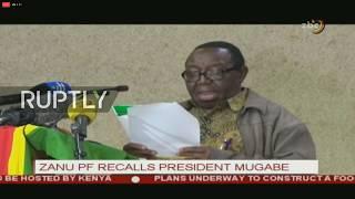 LIVE  Mugabe to give TV address