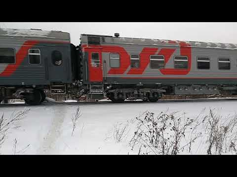 Прибытие Скорого поезда  142Г в г.Чебоксары.