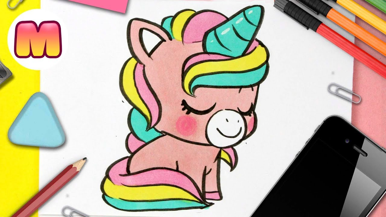 Como Dibujar Un Unicornio Kawaii Aprender A Dibujar Y Colorear Dibujos De Unicornios Facil Youtube