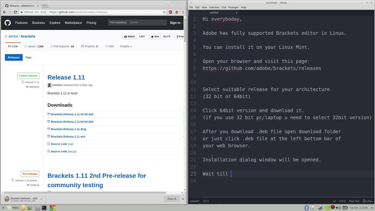 Web development tip: brackets code editor youtube.