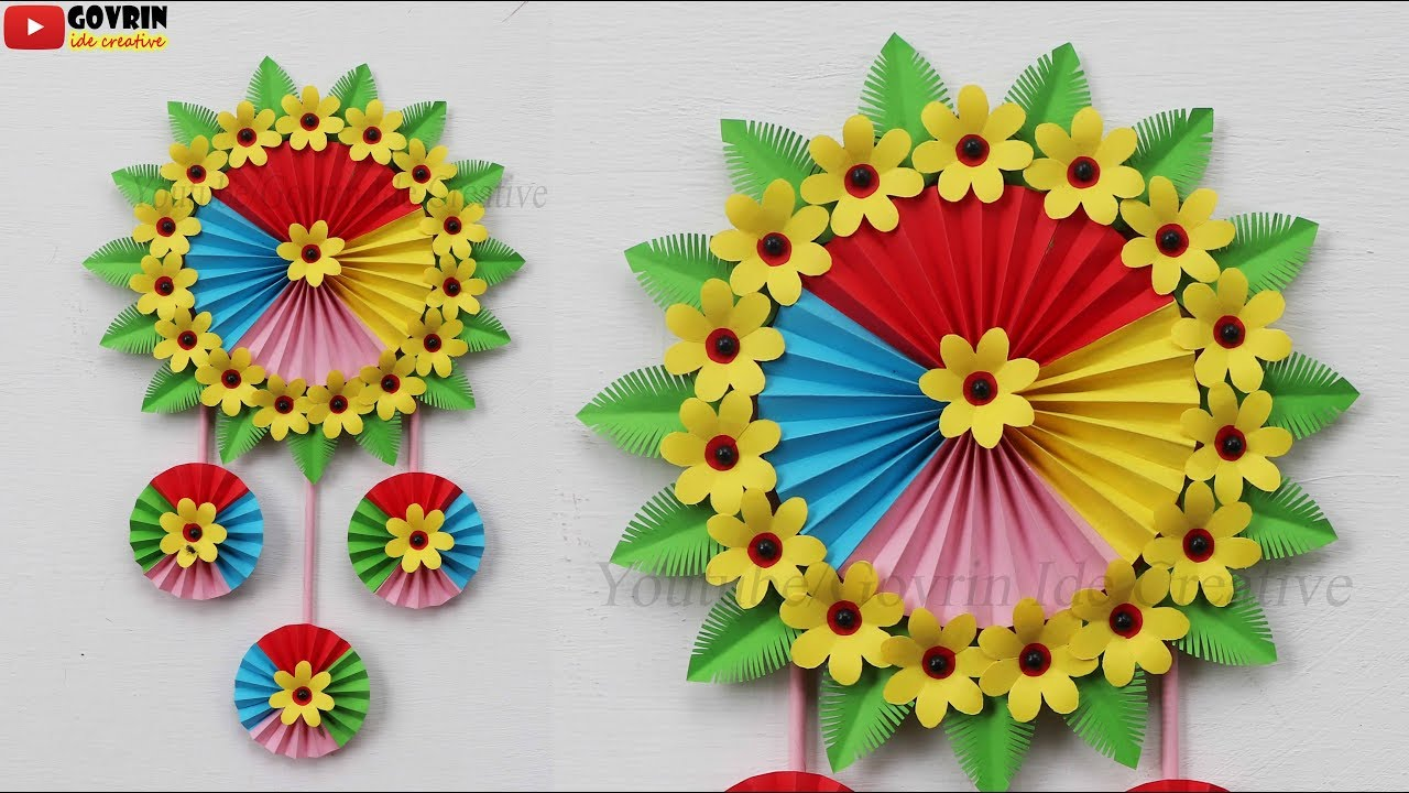 Paper Flower Wall Hanging - Home Decor Ideas  wall decoration ideas at home