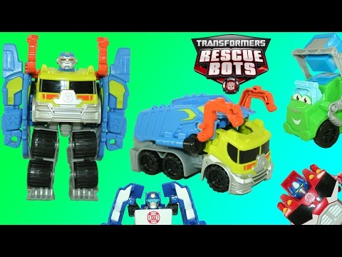Transformers Rescue Bots Salvage Playskool Heroes Optimus Chase Bumblebee