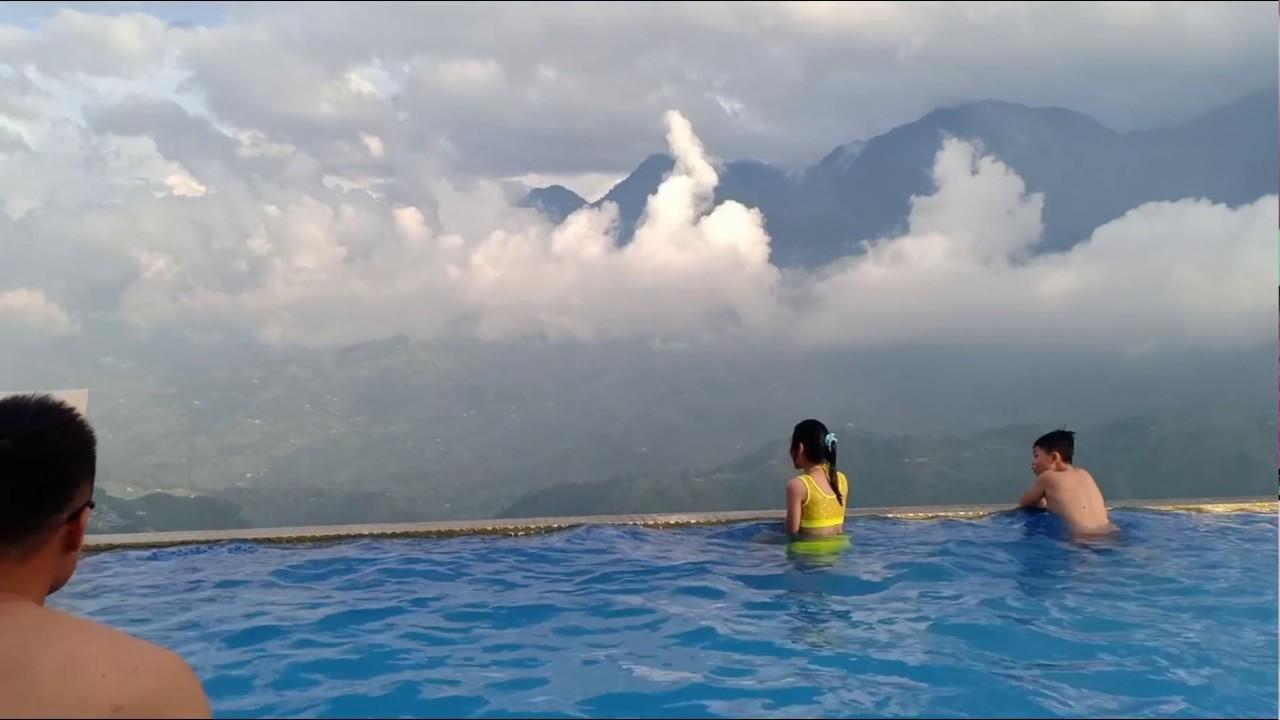 Bể bơi vô cực tại pistachio hotel sapa và chợ đêm sapa