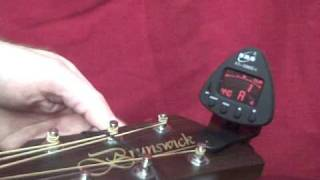 how to tune a guitar using a digital tuner!