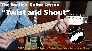 "Beatles ""Twist and Shout"" - Super Easy Beginner Guitar Lesson!"