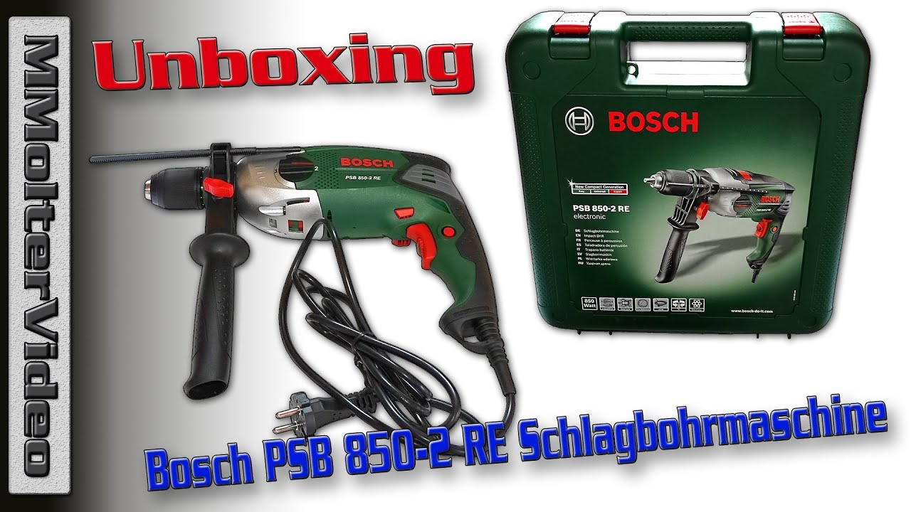 bosch psb 850 2 re schlagbohrmaschine expert unboxing von mmoltervideo youtube. Black Bedroom Furniture Sets. Home Design Ideas