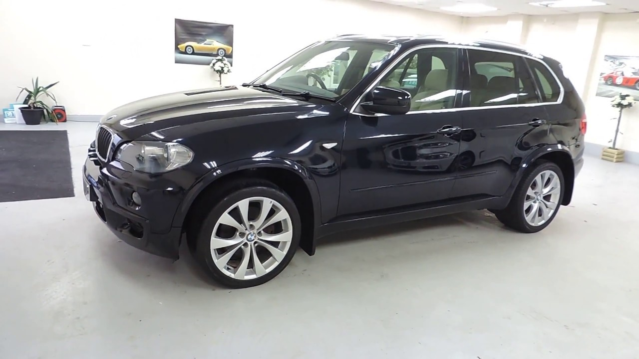 2008 bmw x5 m sport in carbon black with cream leather for sale in cardiff youtube. Black Bedroom Furniture Sets. Home Design Ideas