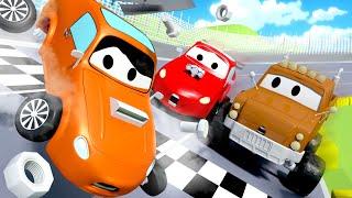 Nehoda na zvodn drze - Odtahov auto Tom ve Mst Aut  Animky o autech