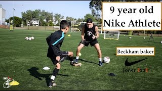 9 year old Beckham FULL Soccer Session | Nike Athlete | Joner 1on1 Football Training
