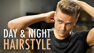 How to style a QUICK and EASY hairstyle for Men, works Day and Night