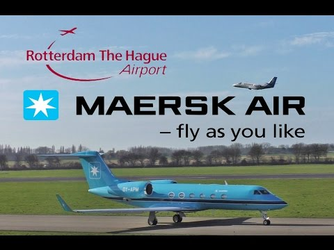 Maersk Air UK Gulfstream G450 OY-APM Take Off Rotterdam Airport & Others