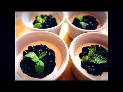Blueberry Yogurt by SupravaTreats - Quick and Healthy Vegetarian Dessert recipe - Eggless Desserts