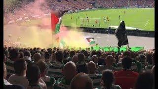 Celtic taraftarı Filistin bayrağı dalgalandırdı!