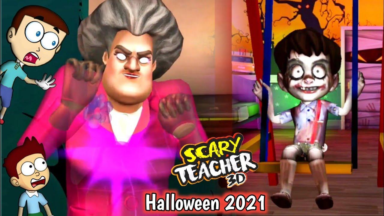Download Scary Teacher 3D Halloween 2021 - Spooktacular Halloween | Shiva and Kanzo Gameplay