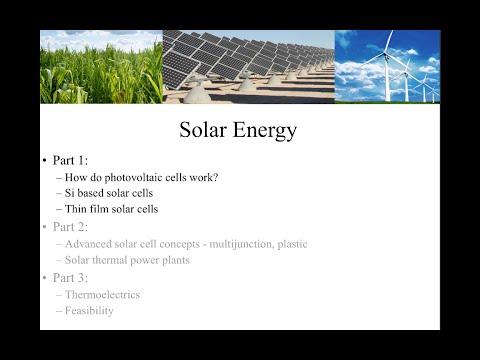 Solar Energy (Part 1)
