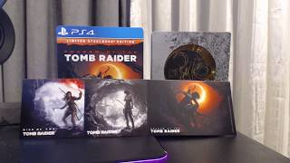 Shadow of the Tomb Raider PS4 Unboxing - Limited Steelbook Edition
