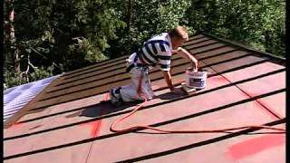 видео Краска для оцинкованной крыши