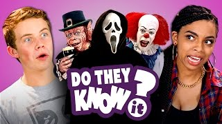 Download DO TEENS KNOW 90's HORROR FILMS?  (REACT: Do They Know It?) Mp3 and Videos