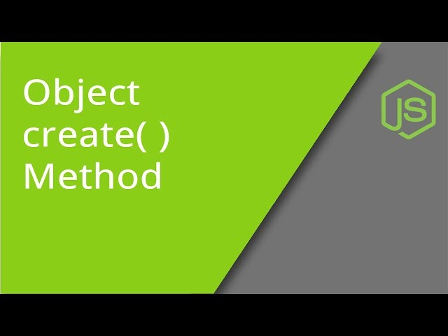 JavaScript Object create method