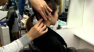 タカシ美容室 まとめ髪 カジュアルシニヨン