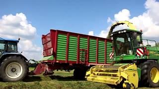 🌟Zbiór traw sieczkarnią 2018🌟 8 ciągników 🌟100ha 🌟Usługi Rolnicze RMR