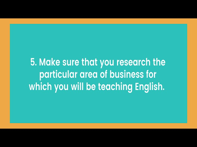 Tips for Business English Lesson Plans