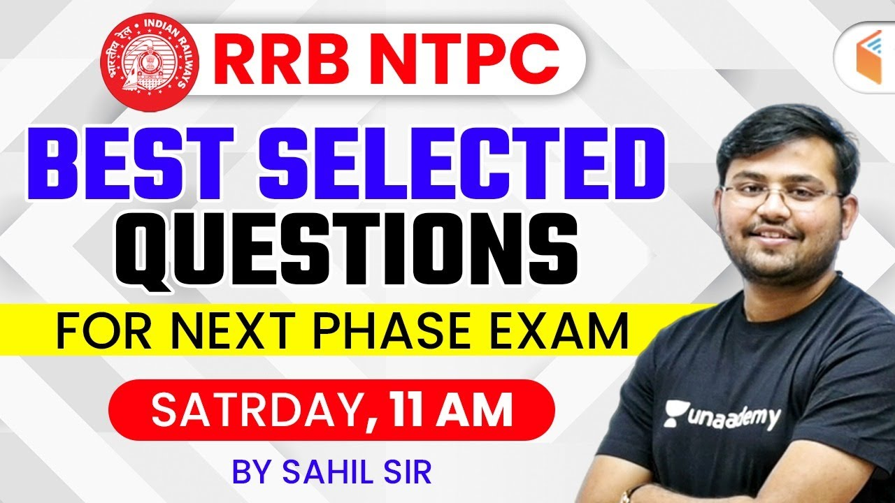 RRB NTPC 2020-21 | Maths Best Selected Questions for Next Phase Exam by Sahil Khandelwal