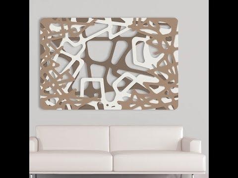 Quadro moderno las traforato in legno tre colori youtube