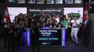 Enthusiast Gaming Holdings opens Toronto Stock Exchange October 26, 2018