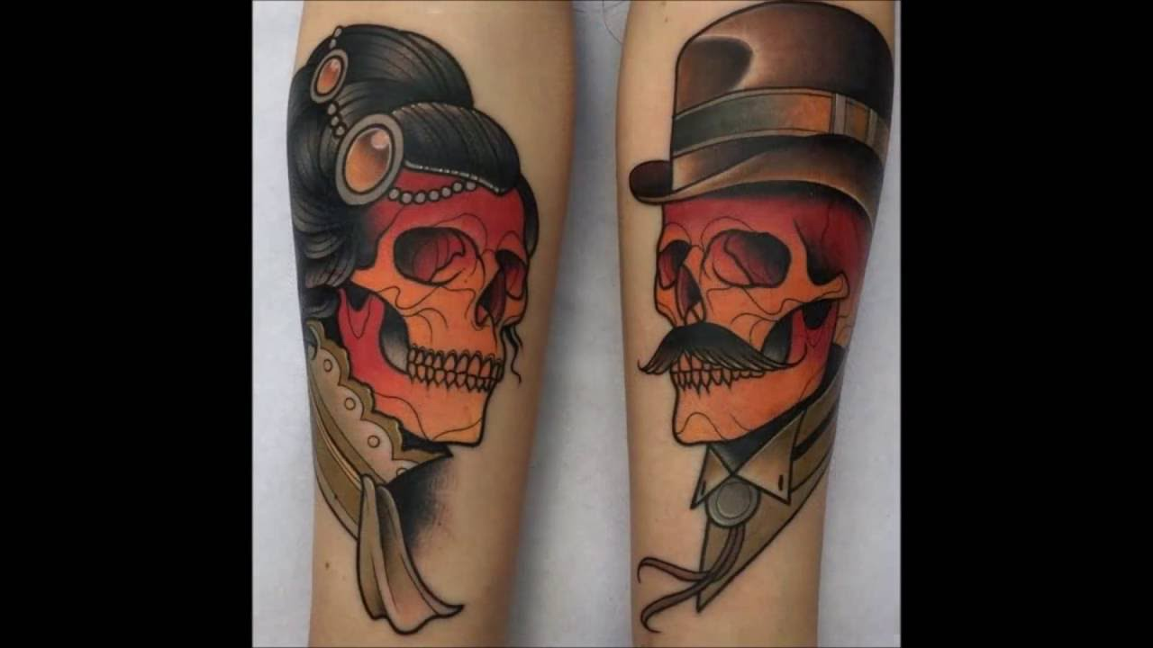 Tatuajes A Juego Y En Pareja Con Calaveras Youtube