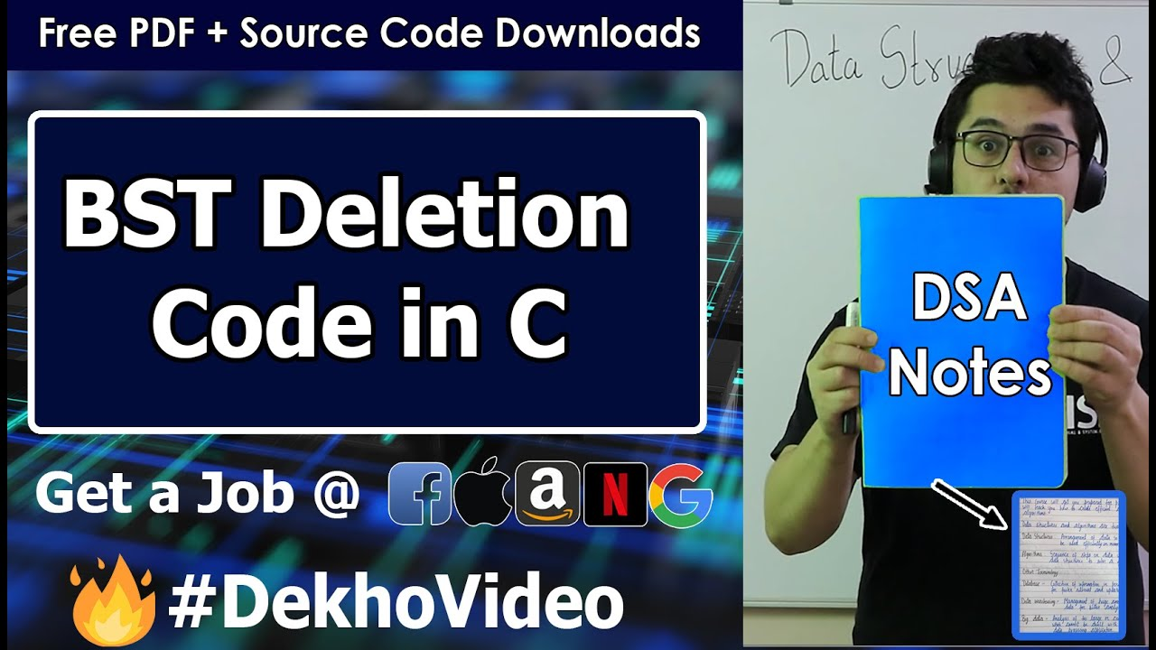 C Code For Deletion in a Binary Search Tree