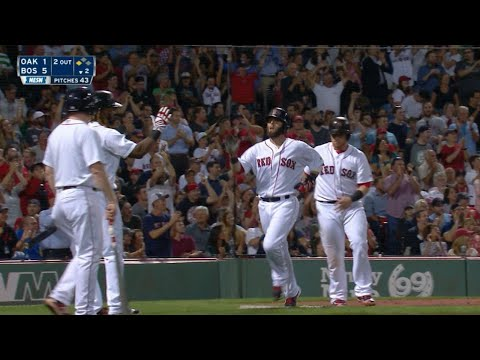 OAK@BOS: Red Sox tally five runs in the 2nd