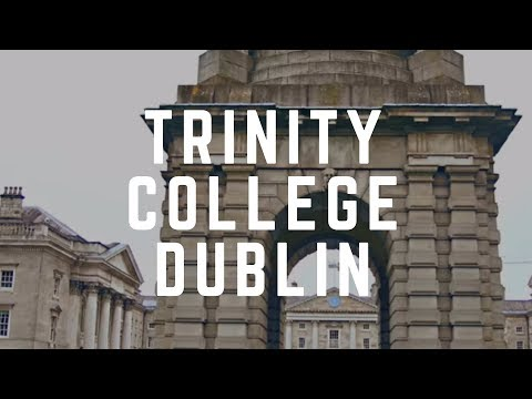 TRINITY COLLEGE DUBLIN - Founded 1592 - Dublin Ireland.Trinity College Museum & Library-A must see!