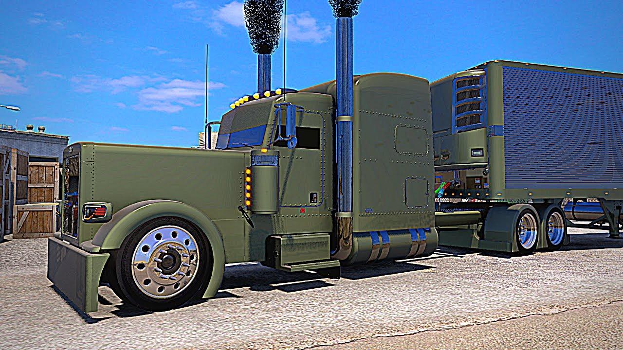 Download Outlaw Peterbilt 389  -  Straight Pipe Big CAT Power   (ATS American Truck Simulator Gameplay)