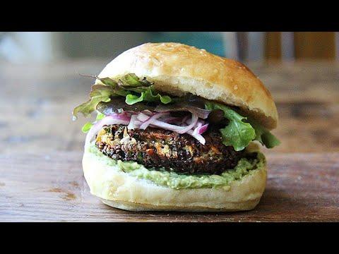 Veggie Burgers ������with Sweet Potatoes & Mushrooms
