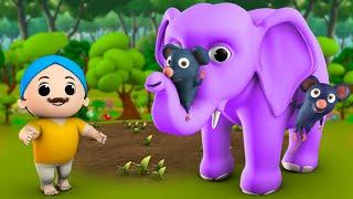 Chuha Haathi aur Kisaan 3D Animated Hindi Moral Stories for Kids चूहा हाथी और किसान की कहानी Tales