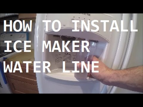 Can you hook up ice maker hot water