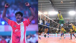 Ajith lal, shone, Raheem, kerala vs Punjab, Set 4, fedaretion cup volleyball 2018, life of volley
