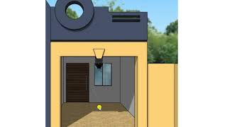 5 marla house plan with front design, 25 X 50 feet, style no 23, Plot No 305
