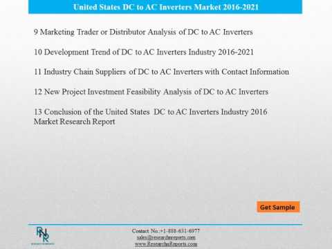 United States DC to AC Inverters Market Reports Analysis to 2021 and Analysis