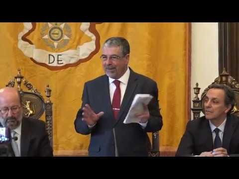 Intervenção de Manuel Machado na consignação de estabilização da margem direita do Mondego